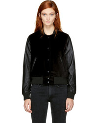 Rag & Bone Rag And Bone Black Camden Club Bomber Jacket