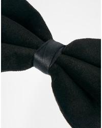 Asos Brand Bow Tie In Velvet