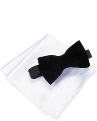 Alfani Red Bow Tie Silk Pocket Square Set Only At Macys