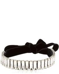 Giuseppe Zanotti Design Amanda Velvet Crystal Choker Necklace