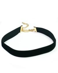 Branded Black Velvet Choker