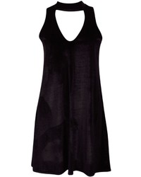 Boohoo Camille Velvet Choker Plunge Shift Dress