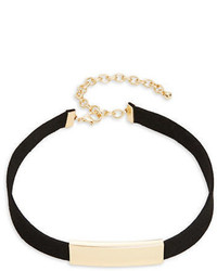 Design Lab Lord Taylor Bar Accented Velvet Choker Necklace