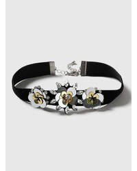 Dorothy Perkins Black Flower Choker Necklace