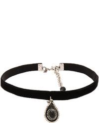 Natalie B Jewelry La Femme Boheme Velvet Choker In Black