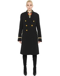 Givenchy Double Breasted Wool Velvet Coat