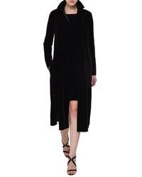 Akris Mariel Velvet Overcoat