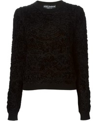 Black Velvet Crew-neck Sweater