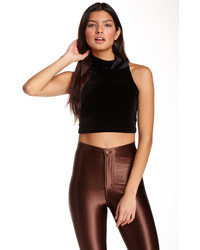 American Apparel Stretch Velvet Crop Top