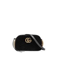 Black Velvet Crossbody Bag