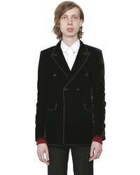 Saint Laurent Double Breasted Velvet Jacket