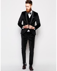 Noose Monkey Noose Monkey Super Skinny Fit Suit Pants In Velvet ...