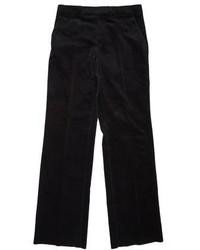 Les Hommes Velvet Flat Front Pants