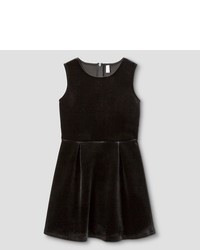 Xhilaration Girls Velvet Dress Black
