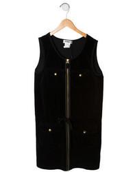 Rykiel Enfant Girls Velvet Cargo Dress