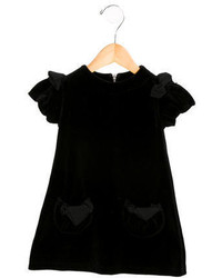 Rykiel Enfant Girls Velvet Shift Dress