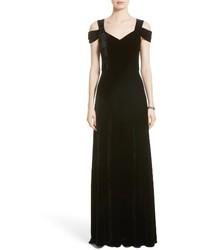 Collection cold shoulder velvet gown medium 4413005