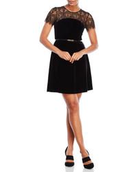 Jessica Simpson Lace Illusion Velvet Dress
