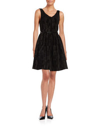 Calvin Klein Textured Velvet Fit And Flare Dress