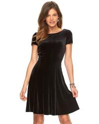 Chaps Velvet Fit Flare Dress