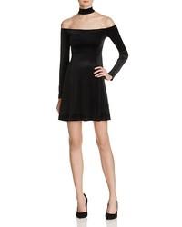 Aqua Velvet Off The Shoulder Dress