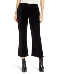 JEN7 by 7 For All Mankind Velvet Crop Flare Pants