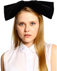 American apparel california select originals velvet oversized bow headband medium 128133