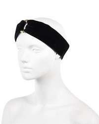 River Island Black Velvet Turban Style Head Band