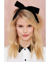 Bow out velvet headband medium 128132