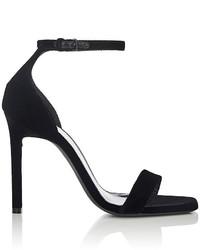Saint Laurent Amber Velvet Sandals