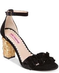 Betsey Johnson Ilana Block Heel Sandals Shoes