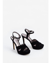 Mango Outlet Velvet Heel Sandals