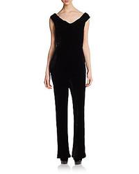 Off the shoulder velvet jumpsuit medium 278001