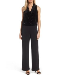 Velvet crepe wide leg jumpsuit medium 4913463