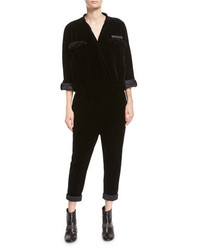 Velvet monili trim utility jumpsuit medium 4156824