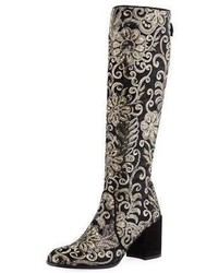 Suburb embellished knee boot black medium 4472489