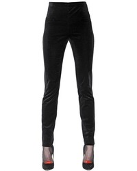 Cotton Velvet Tuxedo Leggings