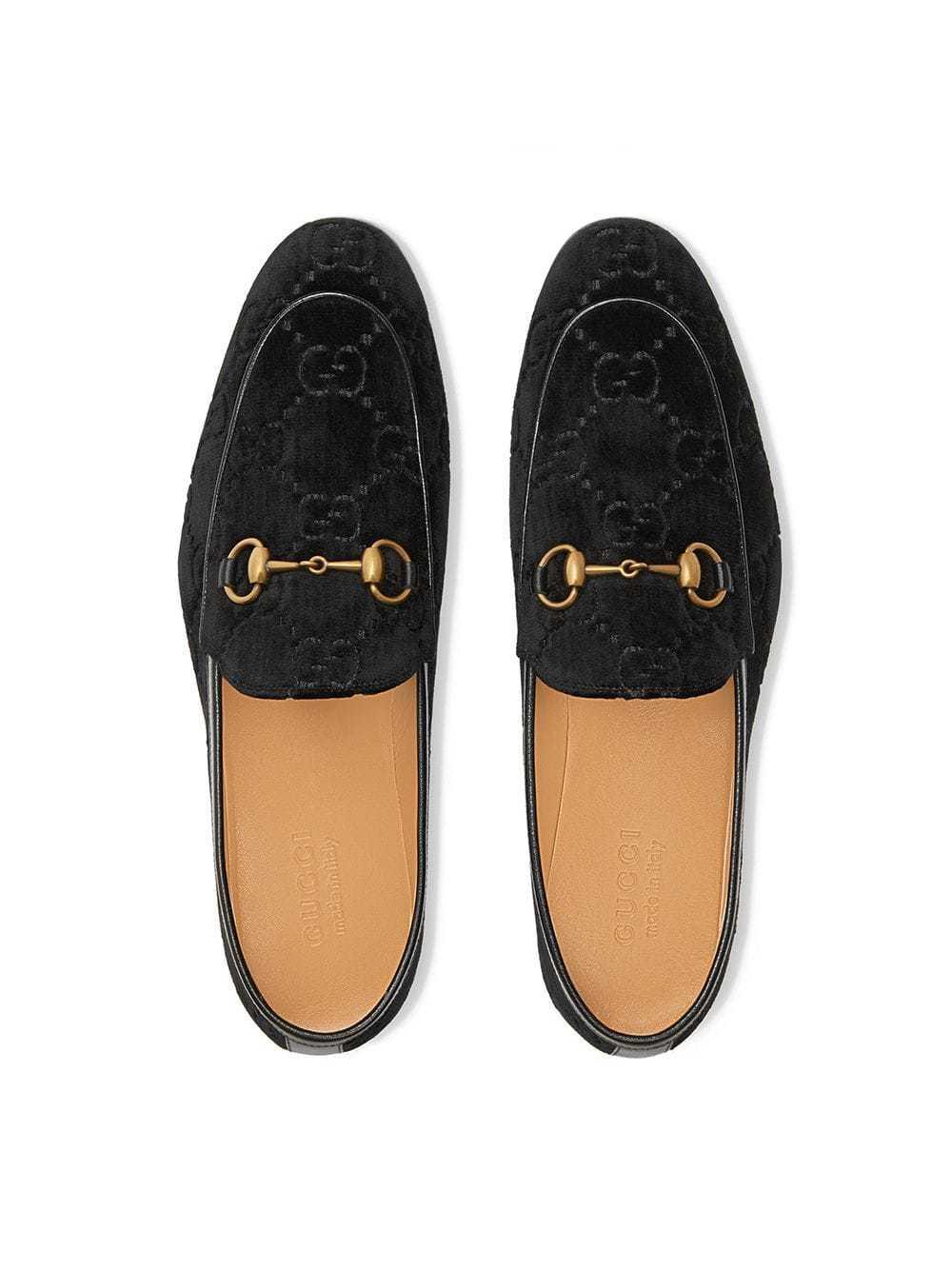 13ce5772549 ... Gucci Jordaan Gg Velvet Loafers ...