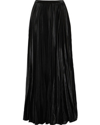 Saint Laurent Pliss Velvet Maxi Skirt