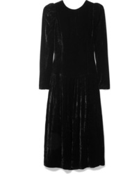 Stella McCartney Open Back Med Velvet Midi Dress