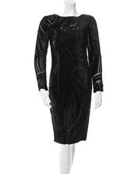 Velvet accented midi dress medium 5370931