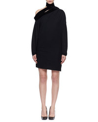 Tom Ford Long Sleeve Sable Jersey Scarf Dress