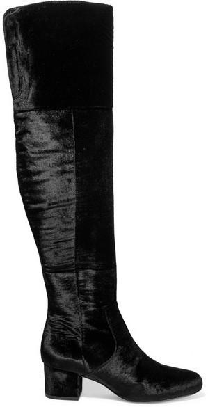 2216bf447d9b59 ... Sam Edelman Elina Velvet Over The Knee Boots Black ...
