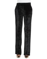 Etro Chevron Velvet Pull On Pants Black