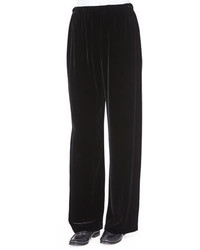 Velvet wide leg trousers medium 377305
