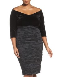 Alex Evenings Plus Size Off The Shoulder Sheath Dress
