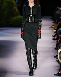 Altuzarra Antonia Corset Sheath Dress With Velvet Trim Black