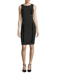 Grommet ribbon sleeveless sheath mini dress medium 5207545