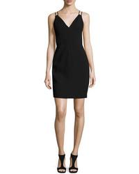 Sleeveless velvet sheath dress black medium 950288