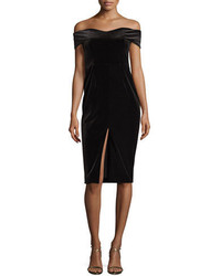 Nicholas Velvet Off The Shoulder Sheath Dress